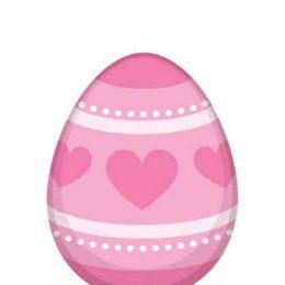 Διακοσμητικό αυγό ροζ Καρδιές (1 μ.)