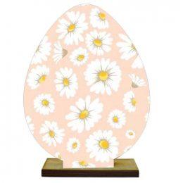 Ξύλινο διακοσμητικό αυγό με βάση (Σχέδιο 5)