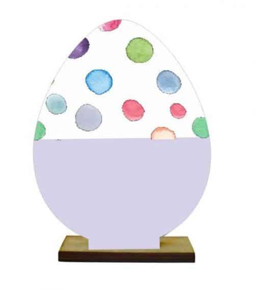 Ξύλινο διακοσμητικό αυγό με βάση (Σχέδιο 6)
