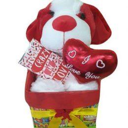Κουτί Αγάπης με σκυλάκι & σοκολάτα