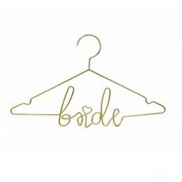 """Μεταλλική χρυσή κρεμάστρα """"Bride"""""""