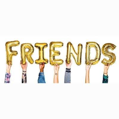 """Σετ μπαλονιών """"FRIENDS"""" χρυσό (7 τεμ)"""