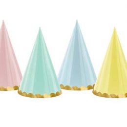 Καπελάκια διάφορα χρώματα παστέλ (6 τμχ)