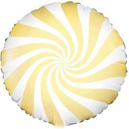 Μπαλόνι Γλειφιτζούρι Άσπρο/κίτρινο 46 εκ