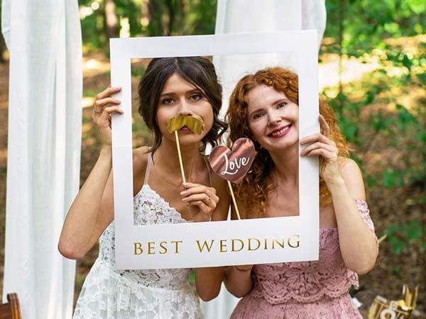 """Σετ photo Booth για Γάμο """"Best Wedding"""""""