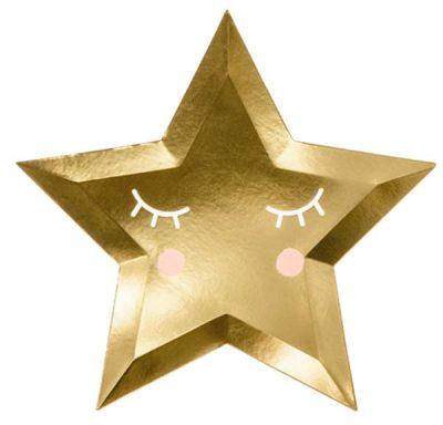 Πιάτα πάρτυ αστέρι χρυσό (6 τμχ)