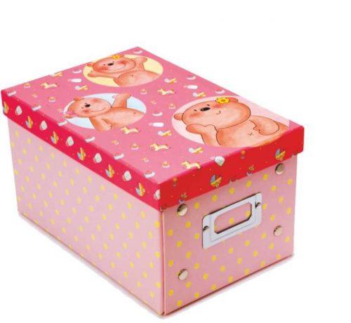Κουτί αποθήκευσης ροζ αρκουδάκια