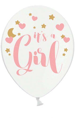 """12″ Μπαλόνι τυπωμένο """"It's a girl"""" (6 τμχ)"""