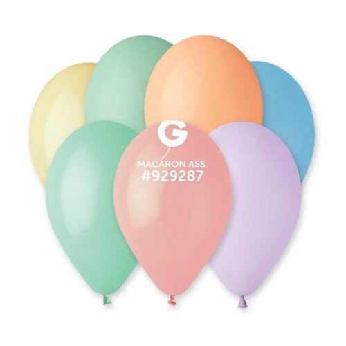 13″ Macaron Διάφορα Χρώματα λάτεξ μπαλόνι