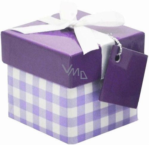 Μοβ καρό μεγάλο κουτί δώρου