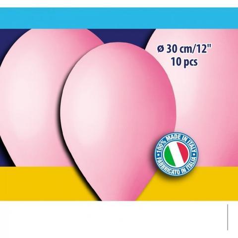 12″ Ροζ λάτεξ μπαλόνια (10 τεμ)