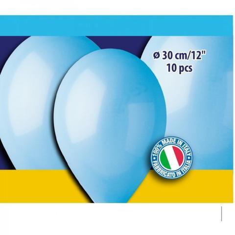 12″ Γαλάζια λάτεξ μπαλόνια (10 τεμ)