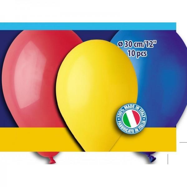 12″ Μπαλόνια Διάφορα χρώματα (10 τεμ)