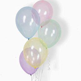 """13"""" Μπαλόνι Crystal Ουράνιο Τόξο (5 τεμ)"""