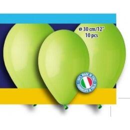 12″ Λαχανί λάτεξ μπαλόνια (10 τεμ)