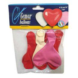 """10"""" Μπαλόνια Latex Καρδιά"""