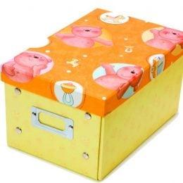 Κουτί αποθήκευσης κίτρινο με αρκουδάκια