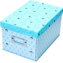 Κουτί αποθήκευσης γαλάζιο με αρκουδάκια