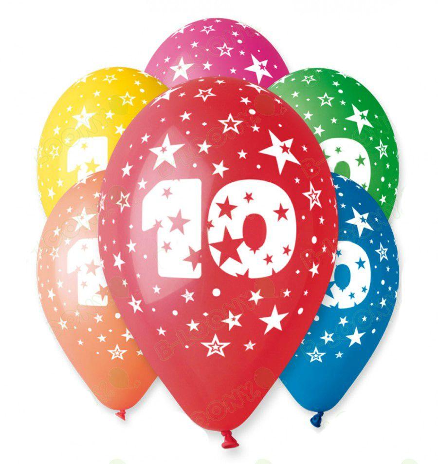 12″ Μπαλόνι γενέθλια Νο 10 (5 τεμ)