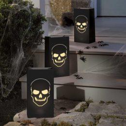 Μαύρα φαναράκια νεκροκεφαλή (6 τμχ)