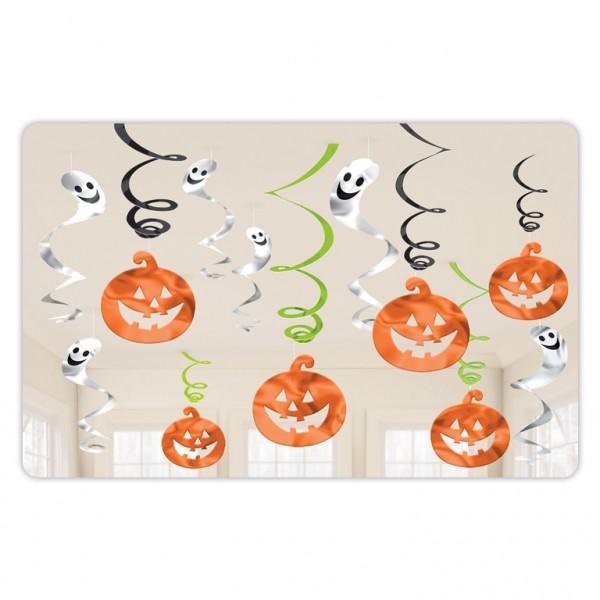Κρεμαστά διακοσμητικά Halloween Κολοκύθες & Φαντάσματα (12 τμχ)