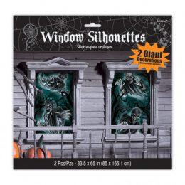 Διακοσμητικό για παράθυρα Στοιχειωμένο Σπίτι (2 τμχ)