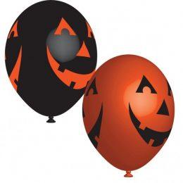 11″ Μπαλόνια τυπωμένα Halloween καλοκύθες (6 τμχ)