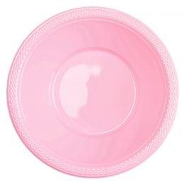 Πλαστικό μπολ ροζ (10 τεμ)