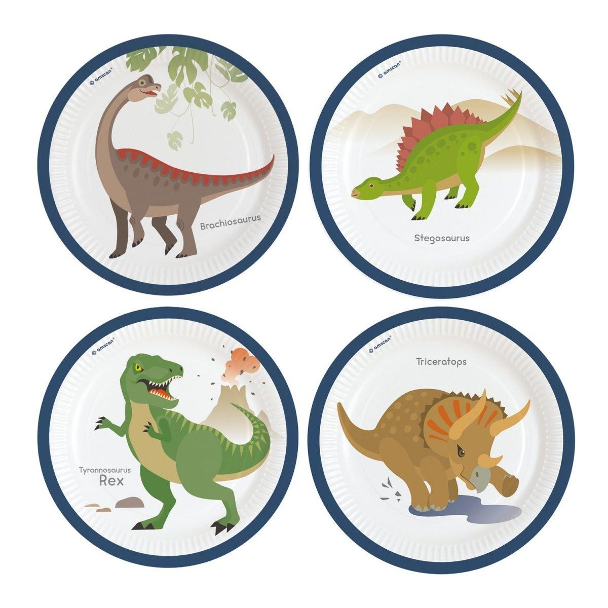 Πιατάκια φαγητού Happy Dinosaur (8 τεμ)