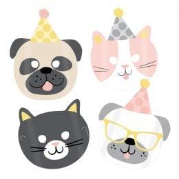 Μάσκες πάρτυ Hello Pets (8 τεμ)