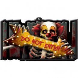 """Πινακίδα κρεμαστή """"Do not Enter"""" Creepy Clown"""