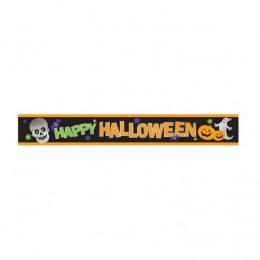 """Foil Banner """"Happy Halloween"""" 274cm"""