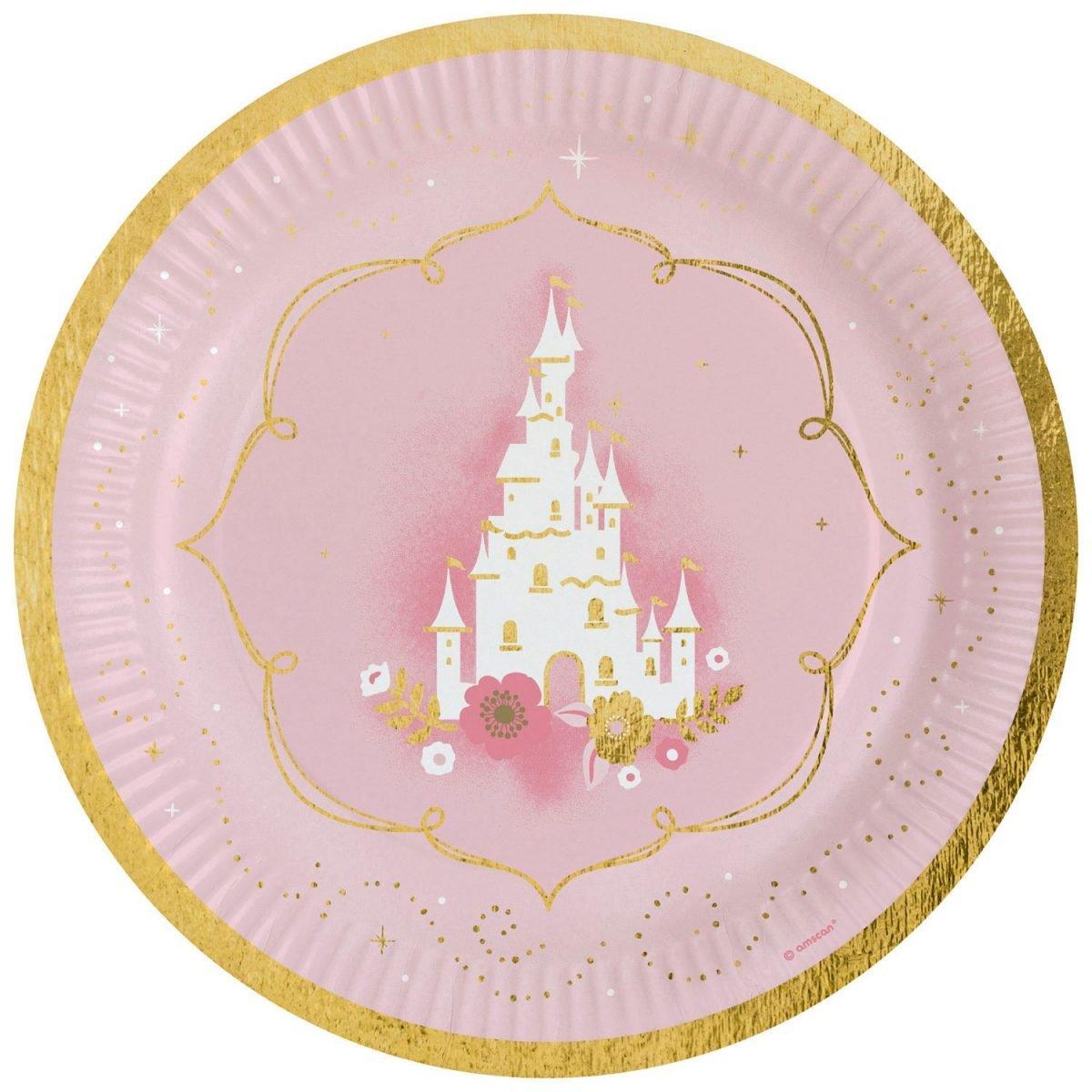Πιάτα πάρτυ Κύκνος – Πριγκίπισσα (8 τεμ)