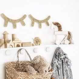 Ξύλινο διακοσμητικό τοίχου Ματάκια-Βλεφαρίδες