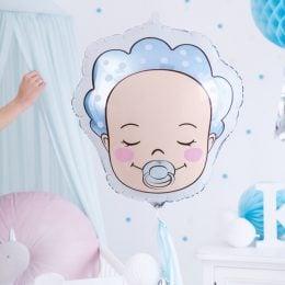 Μπαλόνι γέννησης Αγοράκι με σκουφάκι 45 εκ.