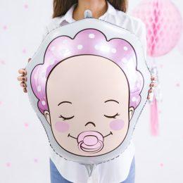 Μπαλόνι γέννησης Κοριτσάκι με σκουφάκι 45 εκ.