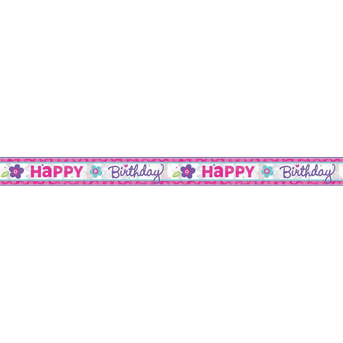 μπάνερ happy birthday ροζ