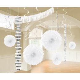 Διακοσμητικό σετ Άσπρο Frosty White (18 τεμ)