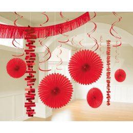 Διακοσμητικό σετ Κόκκινο Apple Red (18 τεμ)