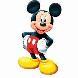 Ξύλινη φιγούρα Mickey Mouse