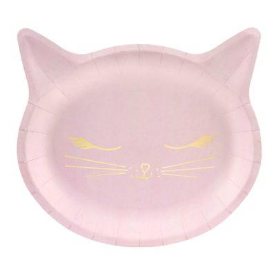 Πιάτα πάρτυ ροζ Γατούλα (6 τεμ)