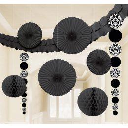 Σετ Ροζέτες Οροφής Μαύρο (8 τεμ)