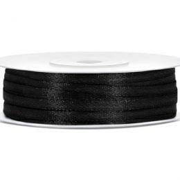 Σατέν μαύρη κορδέλα (50μ.)