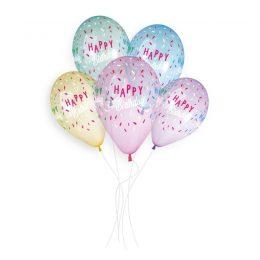 Μπαλόνια Happy Birthday Crystal Rainbow