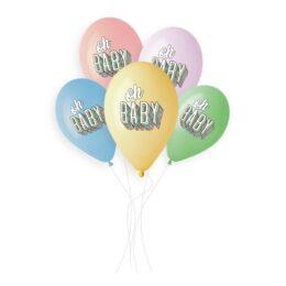 Μπαλόνια Oh Baby Παστέλ
