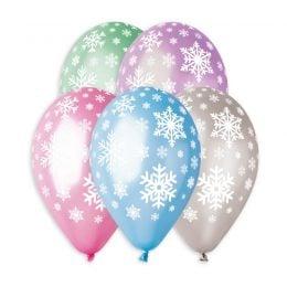 Μπαλόνια Χιονονιφάδες μεταλλικά 13″