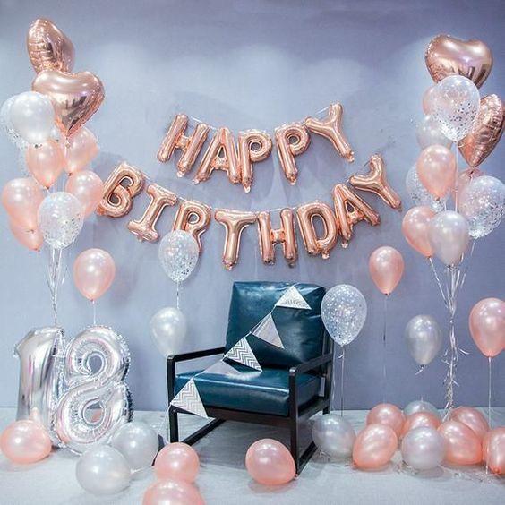 18 extreme birhtday - διαμομση με μπουκετο μπαλόνια για γενέθλια