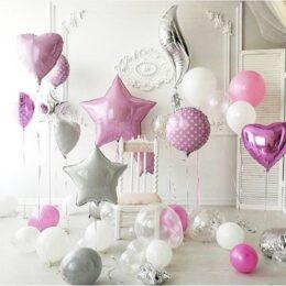 Hearts & Stars Balloon Decoration