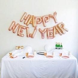 Happy New Year table decor