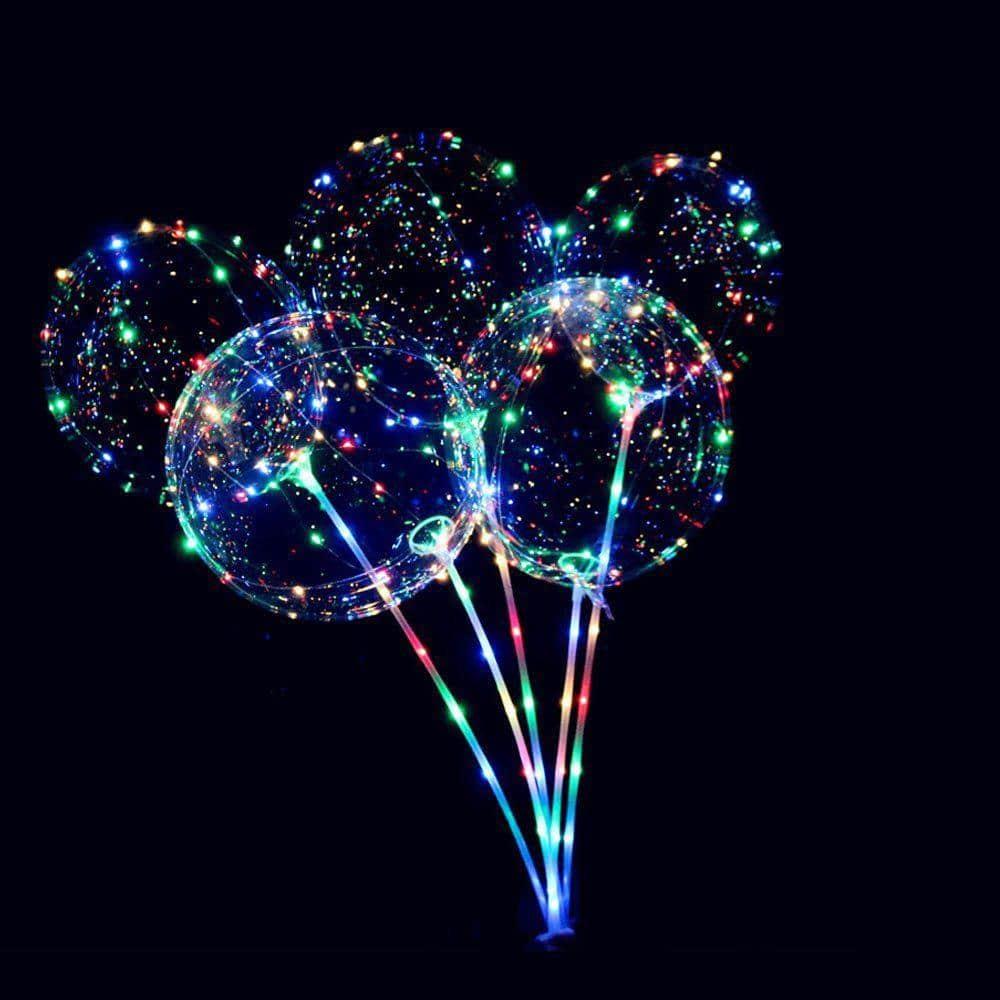 Καλαμάκι διάφανο για μπαλόνια LED
